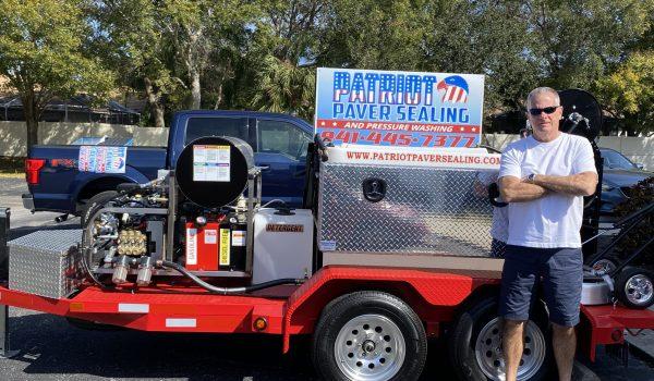 Patriot Paver Sealing Power Washing Rig