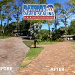 Patriot Paver Sealing and Pressure Washing Before and After Driveway and Sidewalk
